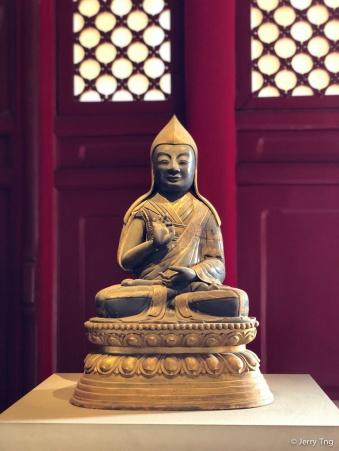 银鎏金六世班禅像(清乾隆46年 1781)Gilt silver statue of Sixth Panchen Lama (1781, Qing dynasty 1644-1911)