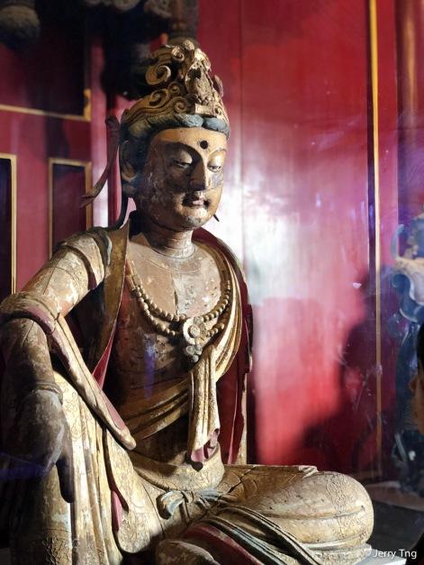 木雕彩绘贴金观音像(北宋 960-1127)Gilt and painted wooden statue of Avalokitesvara (Northern Song dynasty 960-1127)