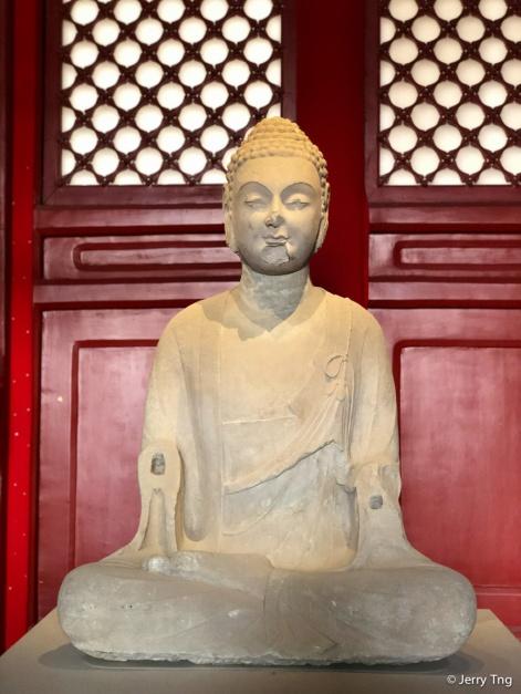 石佛像(唐 618-907) Stone buddha (Tang dynasty 618-907)
