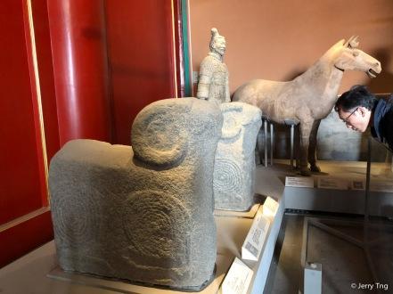 石羊(东汉永和五年, CE140)Stone ram (dated CE140, Eastern Han dynasty 25-220)