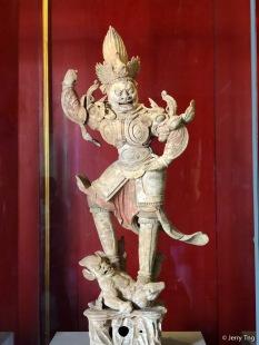 陶彩绘天王俑(唐开元二年 714)Painted terracotta heavenly king (Tang dynasty dated 714)