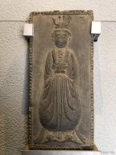 人物砖(隋 581-618)Brick carved with figure (Sui dynasty 581-618)