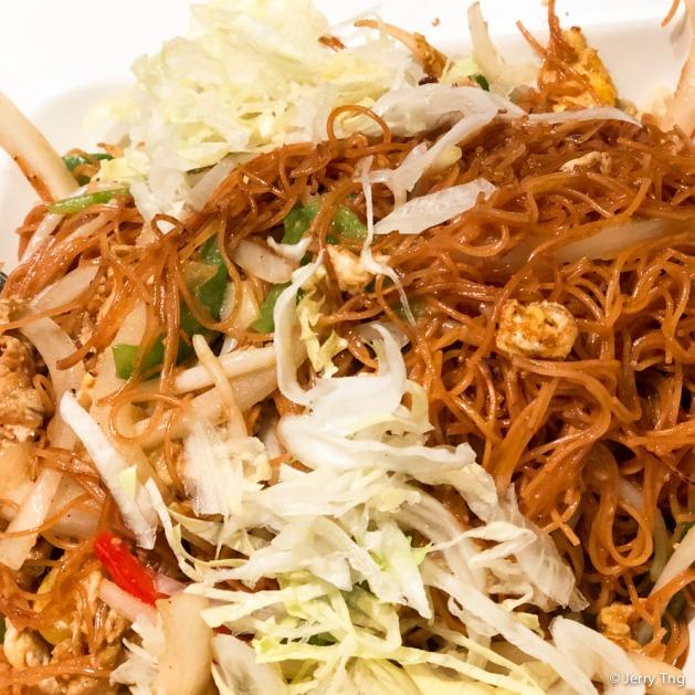 家乡炒面线 Fried Mian Xian in Teochew Style