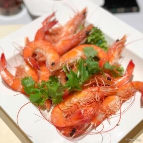 白灼活虾 Poached Live Prawns