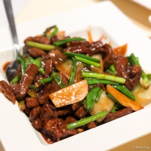 姜葱爆鹿肉 Fried Venison with Ginger & Spring Onions