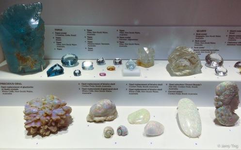 Topaz, opal, quartz, etc