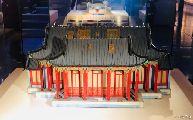 Models of palace buildings
