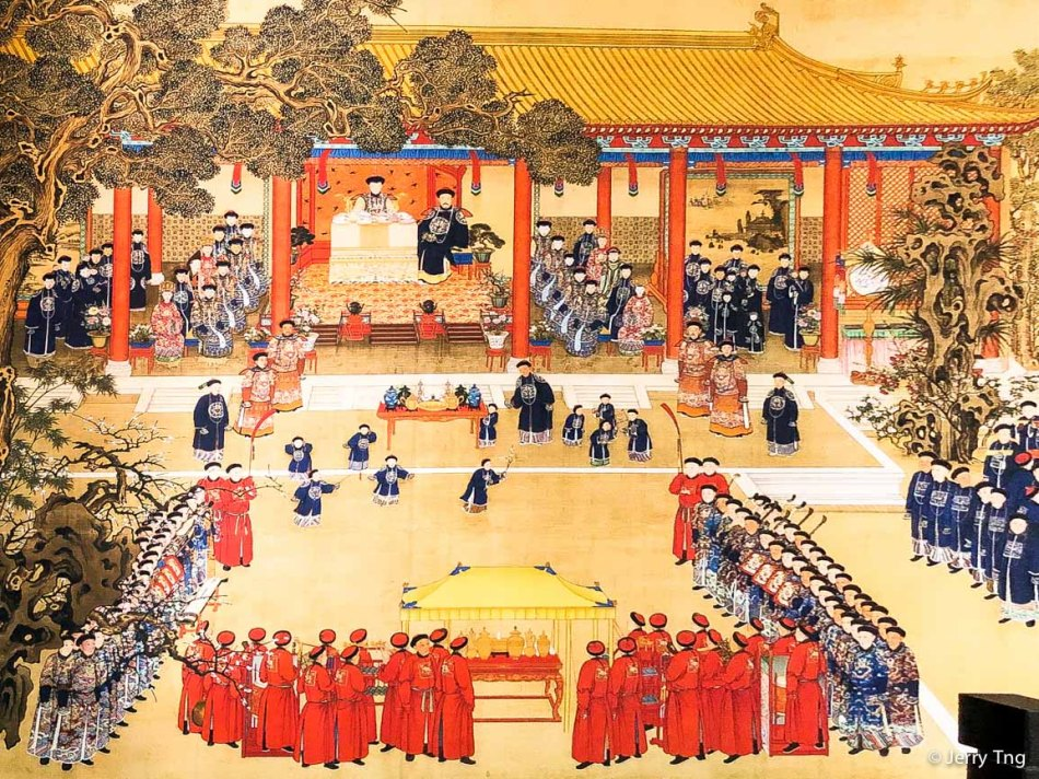 Picture depicting the 60th birthday celebration of Empress Dowager Chongqing