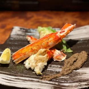 大タラバ蟹 の鉄板焼 grilled king crab