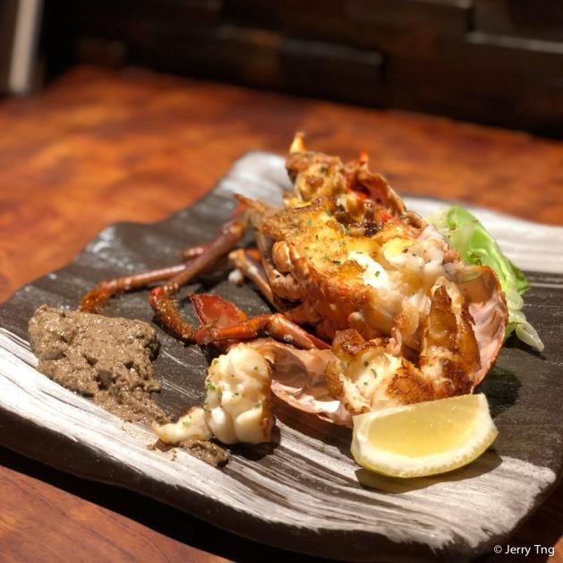 または国産伊勢海老の鉄板焼き grilled Ise lobster
