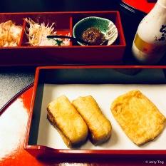 Charcoal-grilled Deep-fried Tofu 揚げ炭火焼-grilled Deep-fried Tofu揚げ炭火焼