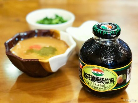 Condiments and sour plum 麻醬 酸梅湯