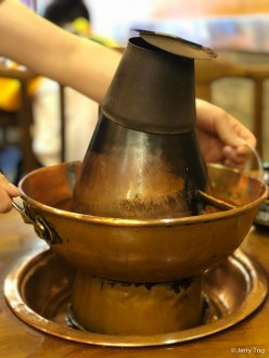 Charcoal copper pot 銅鍋炭火