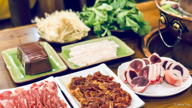 Different food for the hotpot