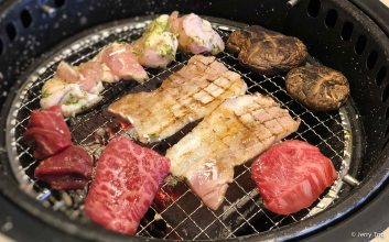 Assorted meat on grilled