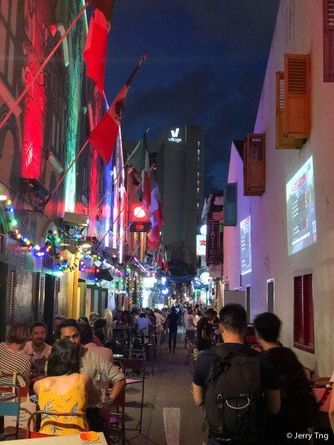 Haji Lane at night