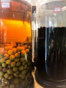 梅子酒、桑椹酒 plum wine and mulberry wine