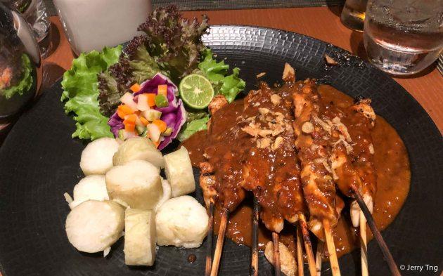 Chicken sates (satays)