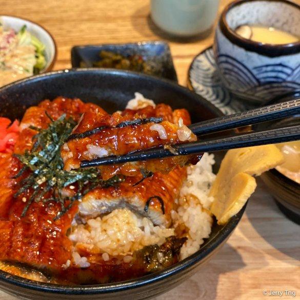 Unagi rice set