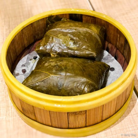 鸳鸯珍珠糯米鸡 lotus leaf wrapped steamed glutinous rice chicken