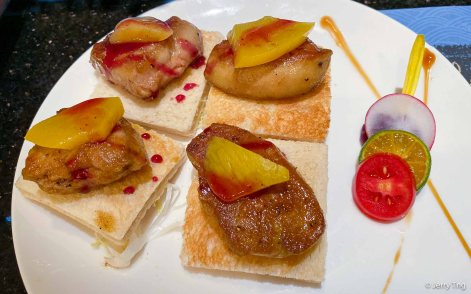 Foie gras on toast