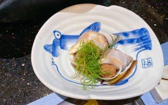 Wine cooked sea whelk