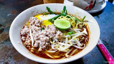 Tomyum egg noodles