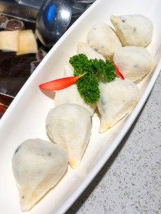 Sotong and ebiko dumpling