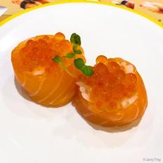 櫻花鮭魚巻2貫 sakura salmon roll