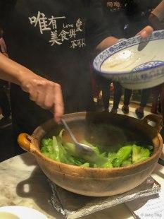 啫啫生菜煲