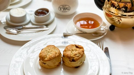 Scones with tea marmalade and fresh cream