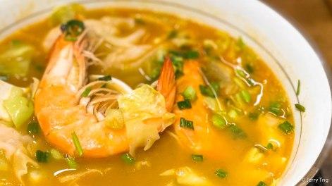 三宝虾汤面 Trio Shrimp Ramen