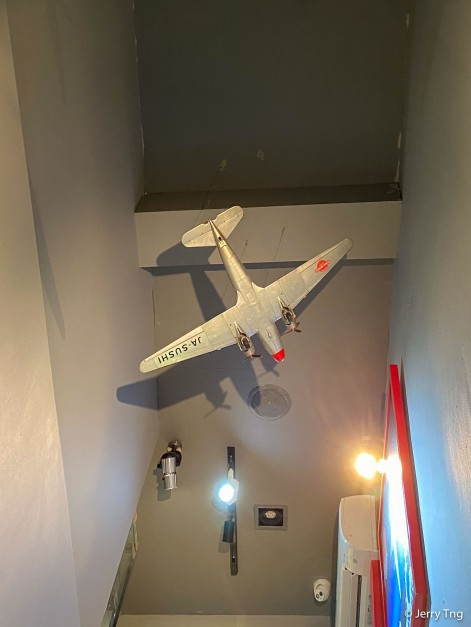 Model of DC3 on the ceiling