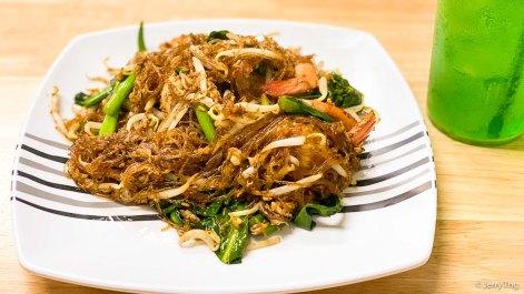 Stir Fried Vermicelli With Seafood ผัดวุ้นเส้นทะเล Pad Woon Sen Talay