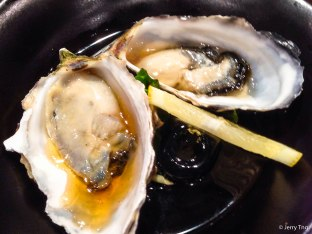 Oysters with ponzu soy sauce