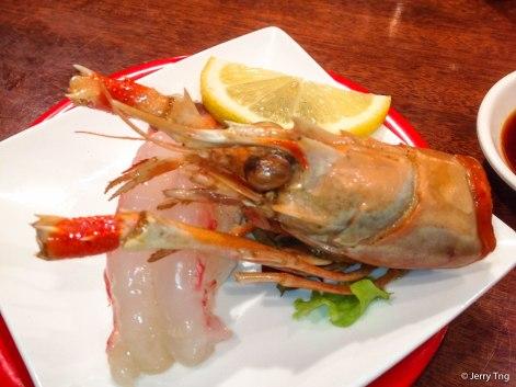 Prawn sashimi