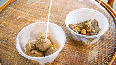 Changsha delights - stinky tofu and spicy beef balls