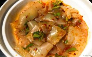 凉拌粉皮 mung bean noodles with sesame and chilli dressing