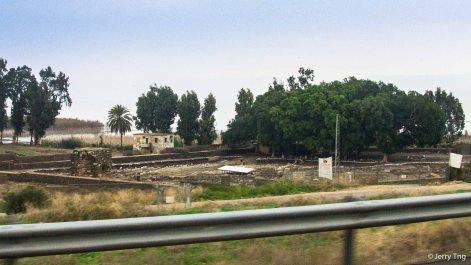 A ruins of a synagogue that has existed during Jesus' time