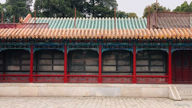 Corridor of plaques engraved with Qianlong's calligraphy