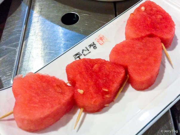 Heart shaped water melon