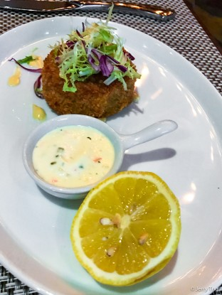 Dungeness crab and shrimp cake