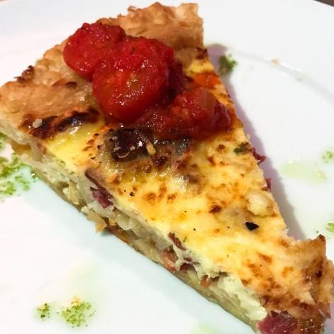 Ricotta and spinach quiche