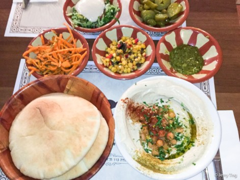 Meze and pita bread