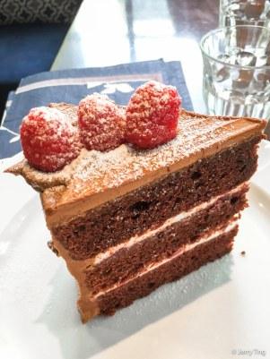 Red velvet meet chocolate cake