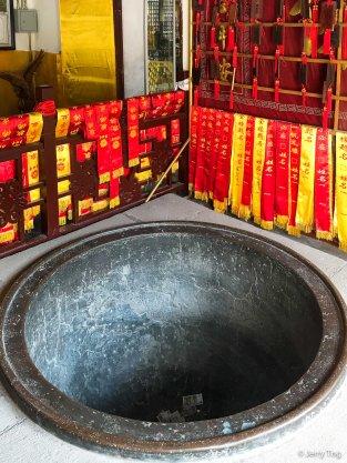 Big bronze pot in Maitreya Hall