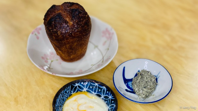 Sourdough with kelp butter and whipped lard