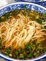 青菜面 scallion noodles
