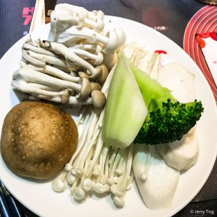 Mushrooms and vegetable